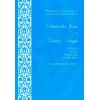Blue Damask Paper Wedding Invitation
